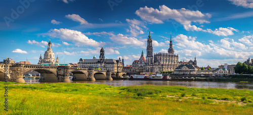 Fotografie, Obraz  The ancient city of Dresden, Germany