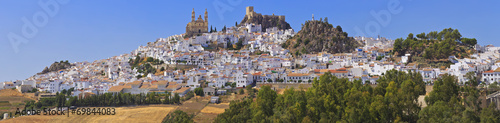 View of Olvera, white village of the province of Cadiz Fototapet