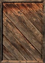 Old Wooden Diagonal Laths In Framework