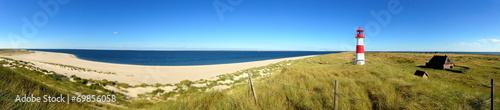 Fotobehang Noordzee Leuchtturm List-Ost auf dem