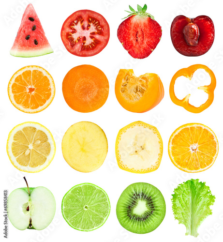 Poster Fruit Fruit and vegetable slices