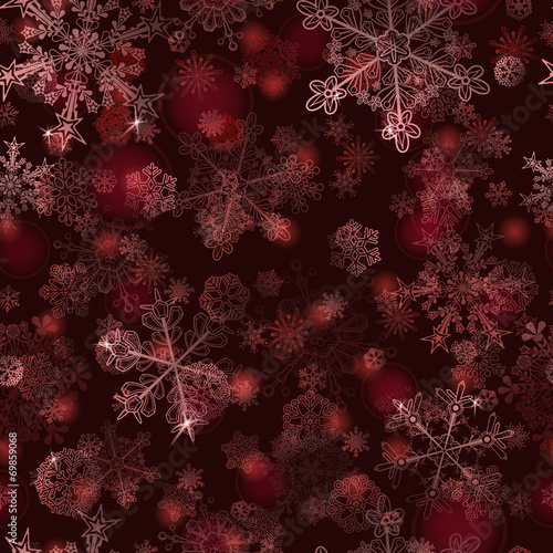 seamless-pattern-of-snowflakes-in-red-colors