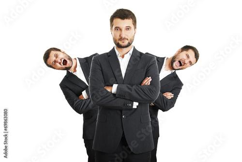 Fotografie, Obraz  men behind confident young businessman