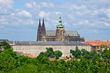 Cathedral On Hradcany Hill In Prague, Czech Republic