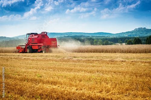 Fotografie, Obraz  combine harvester