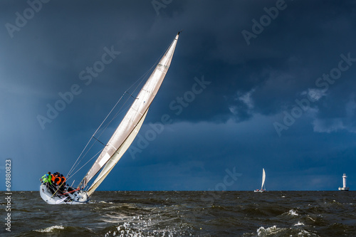 Sailing in a gale