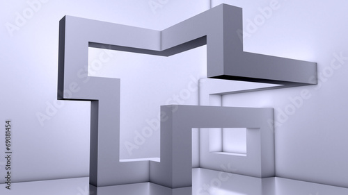 Abstract Architecture Background, 3d Building Blocks