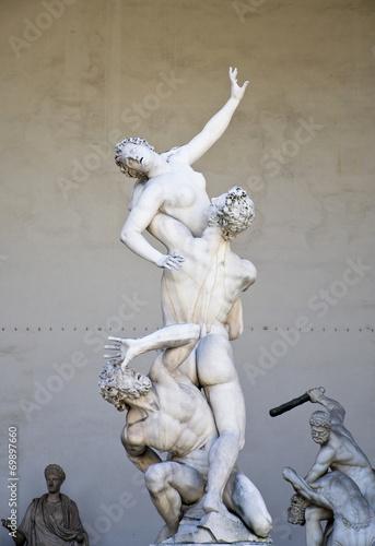 Renaissance sculpture in Piazza della Signoria, Florence Wallpaper Mural