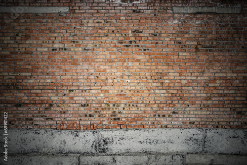 Staande foto Industrial geb. old brick wall
