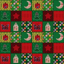 Seamless Christmas Pattern Ele...