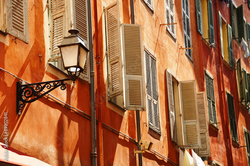 Deurstickers Nice Old town architecture of Nice on French Riviera
