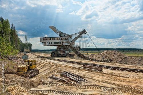 Aluminium Prints Mills Veiw of sand mining in the quarry