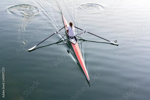 Fotografie, Obraz  Woman in a boat
