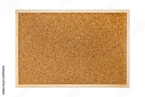 Foto  Cork board isolated on white background