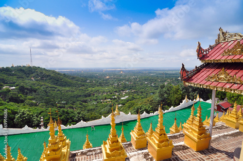 Mandalay Hill is a major pilgrimage site in Myanmar Poster
