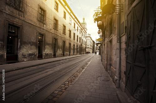 Fototapeten Schmale Gasse Street
