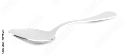 Vászonkép  Metal spoon isolated on white