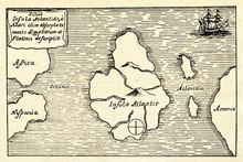 Kircher's Map Of The Atlantis ...