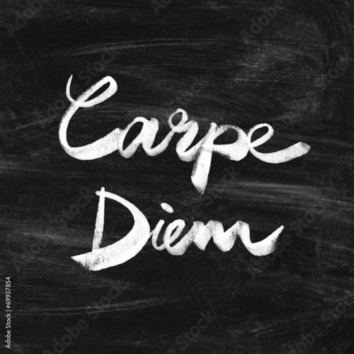 Fotografie, Tablou  Carpe diem. Handwritten quote. Inspiring poster