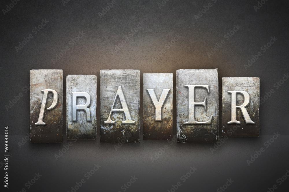 Fototapety, obrazy: Prayer Letterpress