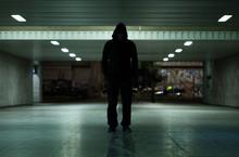 Dangerous Man Walking At Night