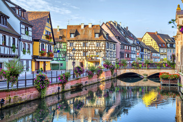 Obraz na Plexi Colorful traditional french houses in Colmar