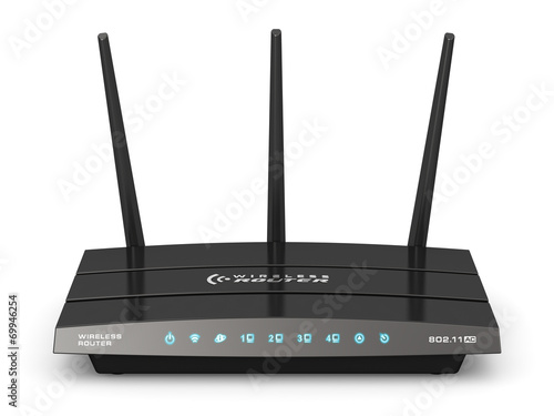 Wireless internet router Canvas Print