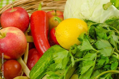 In de dag Verse groenten vegetables and fruits