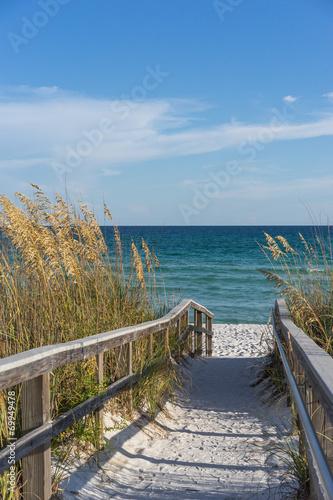 Fototapeta Footpath to beach in paradise obraz