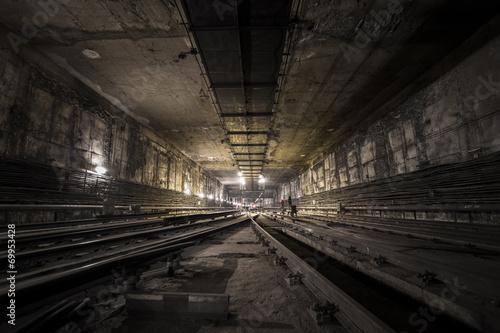Poster Voies ferrées subway tunnel