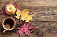 Coffee With Cupcake And Autumn...