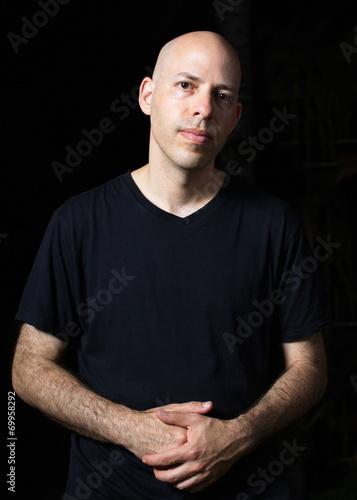 Poster  Low-key portrait of a man
