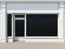 Shopfront With Large Windows. ...