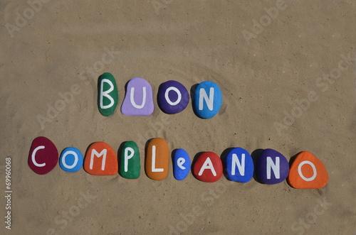 Buon Compleanno, Happy Birthday in italian language Canvas Print
