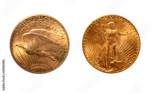 """Fotografía  USA 1925 20 Dollars """"Saint Gaudens Double Eagle"""" Gold Coin"""