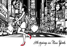 Shopping In Times Square - New...