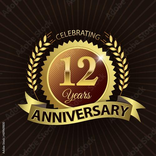 фотография  Celebrating 12 Years Anniversary - Laurel Wreath Seal & Ribbon