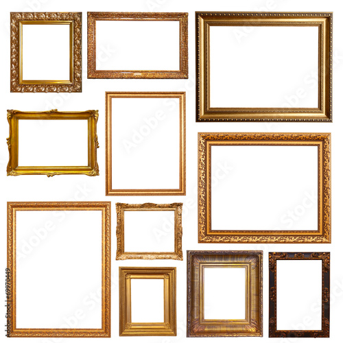 Old gold picture frames - Buy this stock photo and explore similar ...
