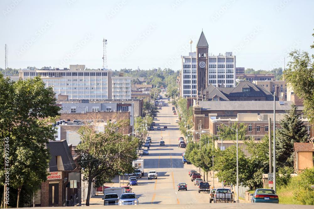 Fototapety, obrazy: Downtown of Sioux Fall, South Dakota.