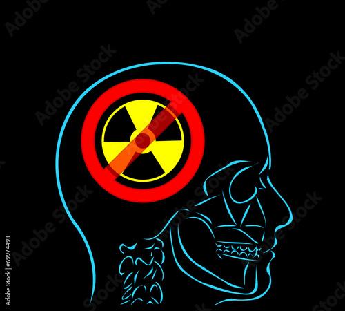 myśl i anty radio - fototapety na wymiar