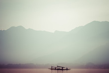 Peacefully Dal Lake In Srinagar, Kashmir India