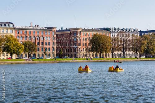 Copenhagen cityscape. View on Copenhagen canal Poster