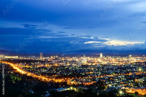 Poster Las Vegas Hatyai city in sunset