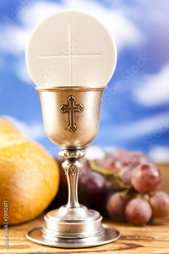 Holy Communion Bread Wine Buy This Stock Photo And Explore