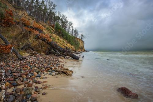 Fotobehang - Morze, nadmorski klif
