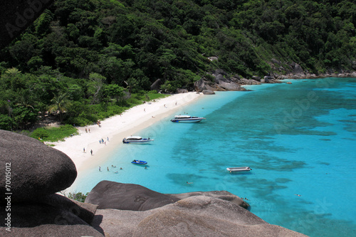 Photo  View point at Donald Duck Bay at Ko Similan Island in Similans n