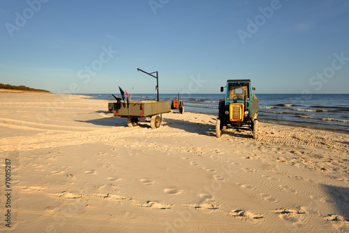 Fotobehang - Morze,  oczekiwanie na łodzie rybackie