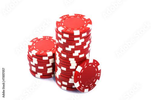 Stacks of poker chips плакат