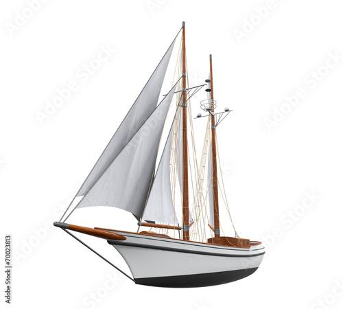 Tuinposter Zeilen Sail Ship Isolated
