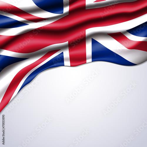 Fototapeta union jack flag realistic vector